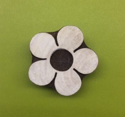 hand carved flower indian wooden printing block for block printing with