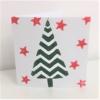 Block Printed Zig Zag Christmas Tree Card