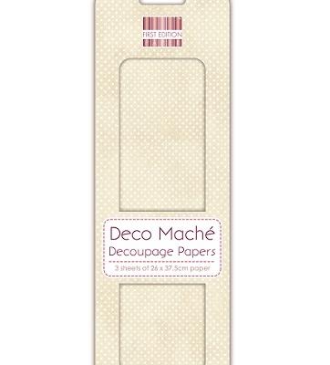 deco mache decoupage paper FEDEC116 cream polka