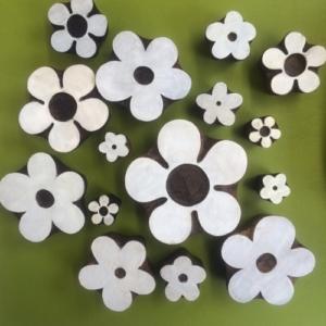 Indian wooden printing blocks flowers