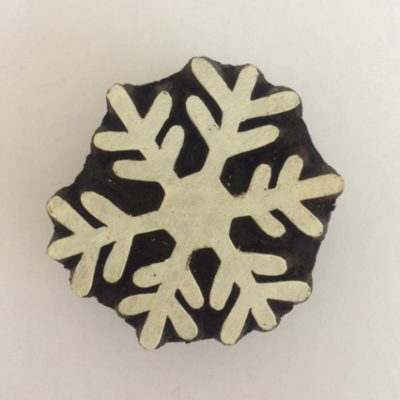 Hand carved Indian wooden printing blocks- christmas snowflake