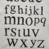 Alphabet Set Indian Printing Blocks- Funky Alphabet Set