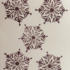 Hand carved Indian wooden printing blocks- Snowflake