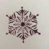 Hand carved Indian wooden printing block- Snowflake