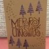 Hand Printed Christmas Card