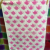 Block Craft Hand Printed Tea Towel- pink teapots