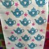Hand Block Printed Tea Towel- Heart Teapot