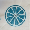 hand printed fabric using Indian wooden printing blocks