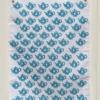 Indian Block Printed Tea Towel Small Dotty Heart Teapot