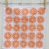Indian Block Printed Napkin Orange Segment