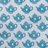 Indian Block Print Small Dotty Heart Teapot
