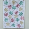 Indian Block Printed Snowflake TIndian Block Print Snowflake Towel