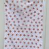 Indian Block Printed Tea Towel Terracotta stars