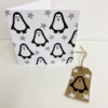 Block Printed Penguin Christmas Card & Tags