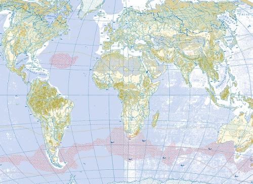 Decoupage Paper- 129 World Map - Arty Crafty