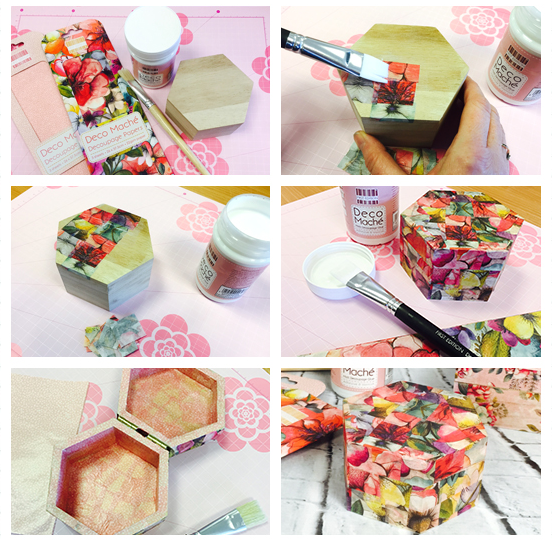 Deco mache paper decoupage tutorial
