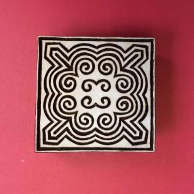 Block craft Indian wooden printing block- square pattern design 2