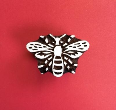 Block craft Indian wooden printing block- detailed bee