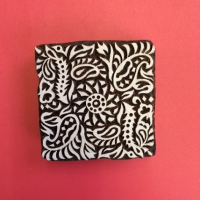 Block craft Indian wooden printing block- filigree printing tile