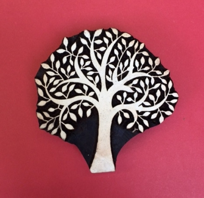 Block craft Indian wooden printing block- spring tree bold