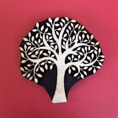 Block craft Indian wooden printing block- spring tree bold