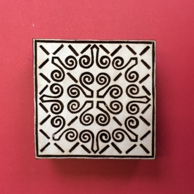 Block craft Indian wooden printing block- square pattern design 8