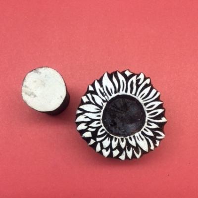 Block craft Indian wooden printing block- Sunny Sunflower