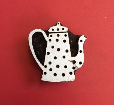 Block craft Indian wooden printing block- small coffee pot