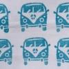 Indian Block Print Campervan Blue