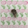 Indian Block Printed Fabric- Flower on Stem