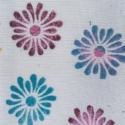 Indian Block Print Flower Textile Fabric Pen