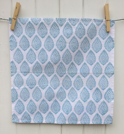 indian-block-print-napkin-paisley-duck-egg-blue