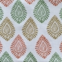 Indian Block Printed Tea Towel Paisley Design