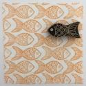 Indian Block Printed Fabric - Pretty Fish