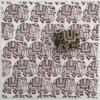 Indian Block Printed Fabric - Small Walking Elephant