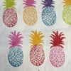 Indian Block Printed Tea Towel Pineapple Multi-coloured