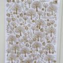 Hand Printed Tea Towel Using Trees & Leaves Printing Set