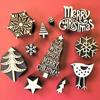 We Wish You A Merry Christmas Tree Printing Set