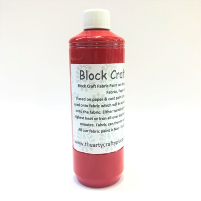 500ml Fabric Paint- Red