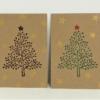 Hand Printed Elegant Spotty Tree Cards