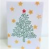 Hand Printed Elegant Spotty Tree Card