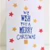 We Wish You A Merry Christmas Block Printed Christmas Card