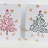 Block Printed Elegant Dotty Christmas Tree Cards
