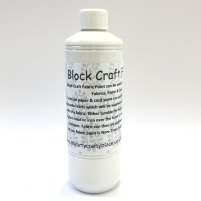 500ml White Fabric Paint