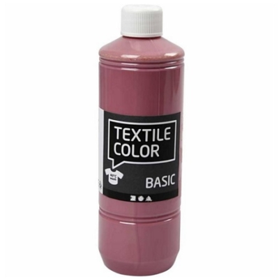 Block Craft 500ml bottle Dark Rose fabric paint
