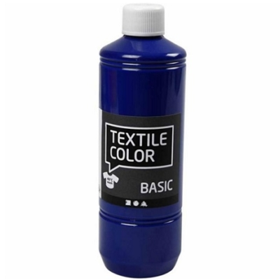 Block Craft 500ml bottle of Primary Blue fabric paint