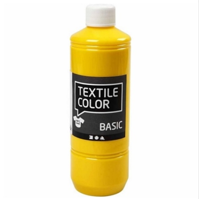 Block craft 500ml Primary yellow fabric paint