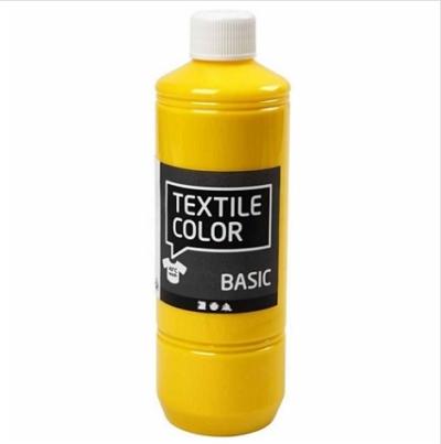 Block craft 500ml Primary yellow fabric paint