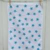Indian Block Print Star Tea Towel
