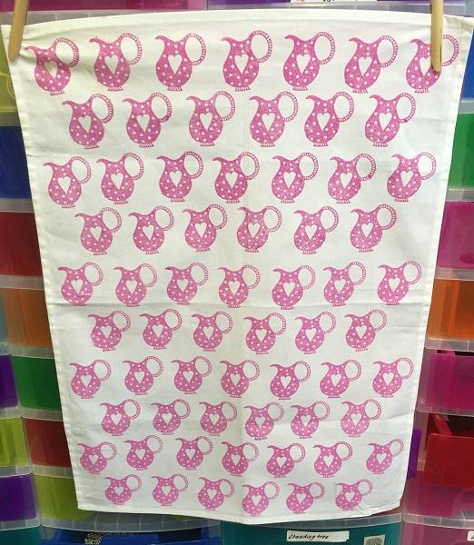 Indian Block Printed Jug Tea Towel